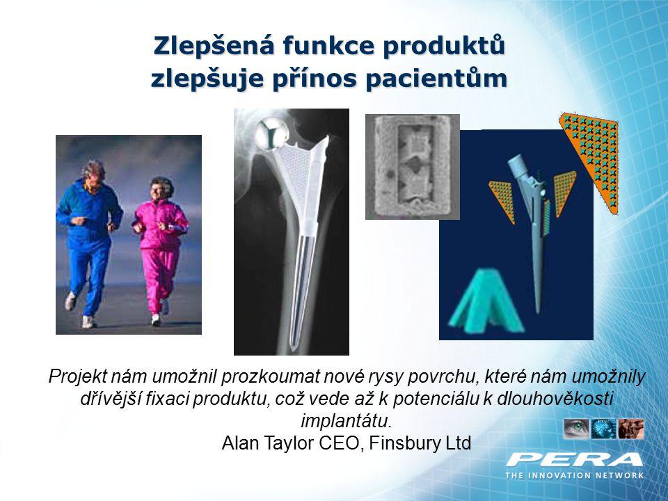Zlepšená funkce produktů zlepšuje přínos pacientům