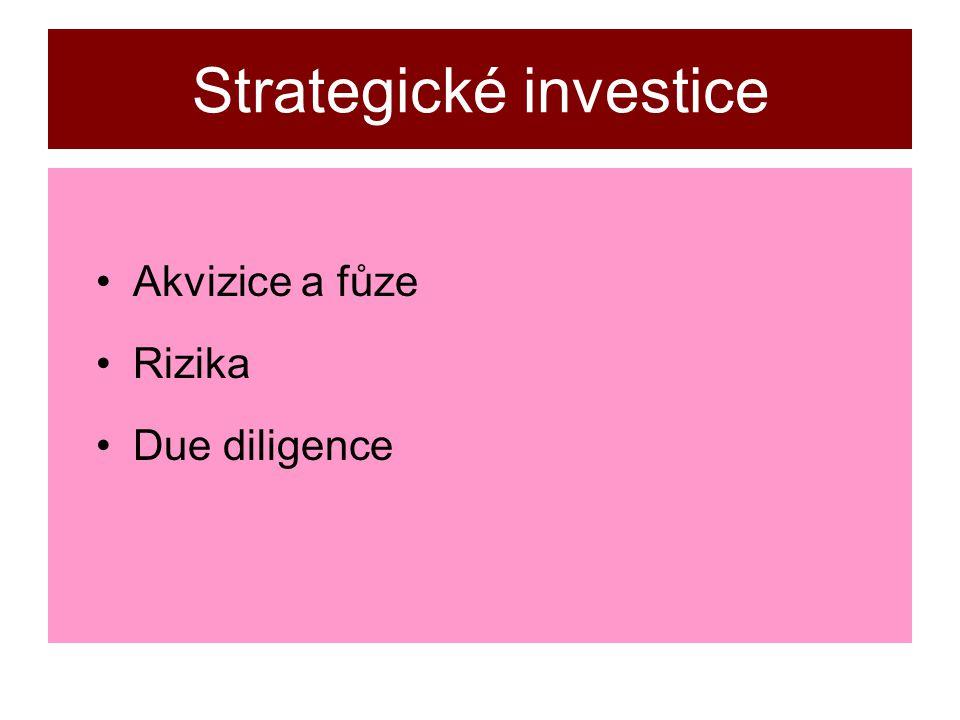 Strategické investice