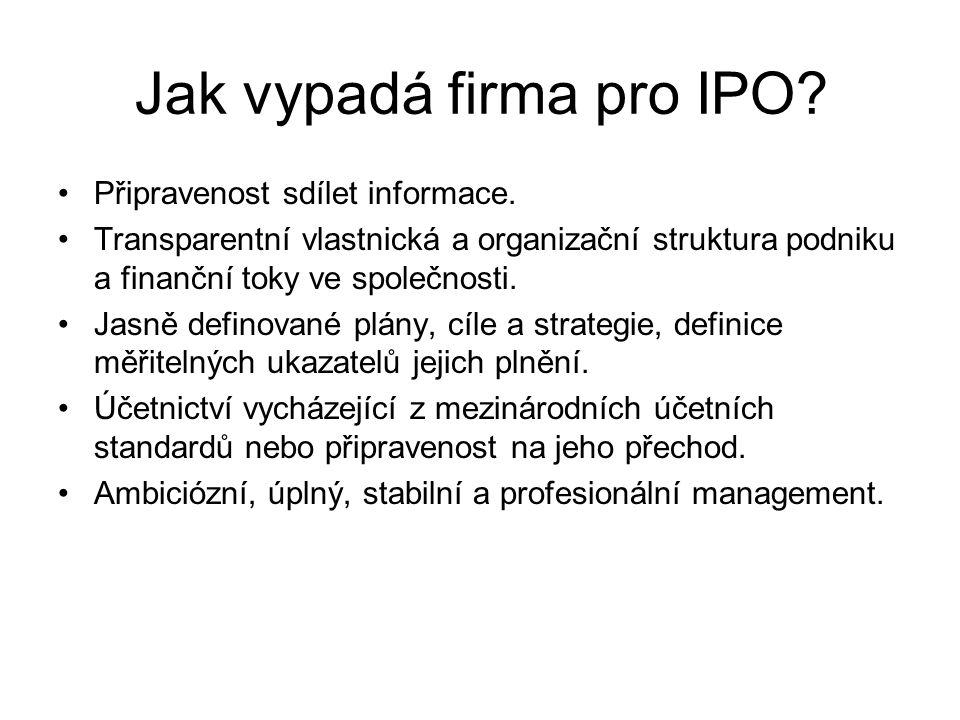 Jak vypadá firma pro IPO
