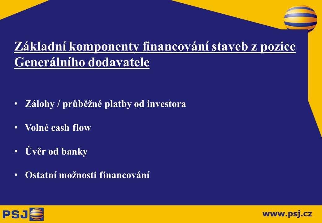 Základní komponenty financování staveb z pozice Generálního dodavatele