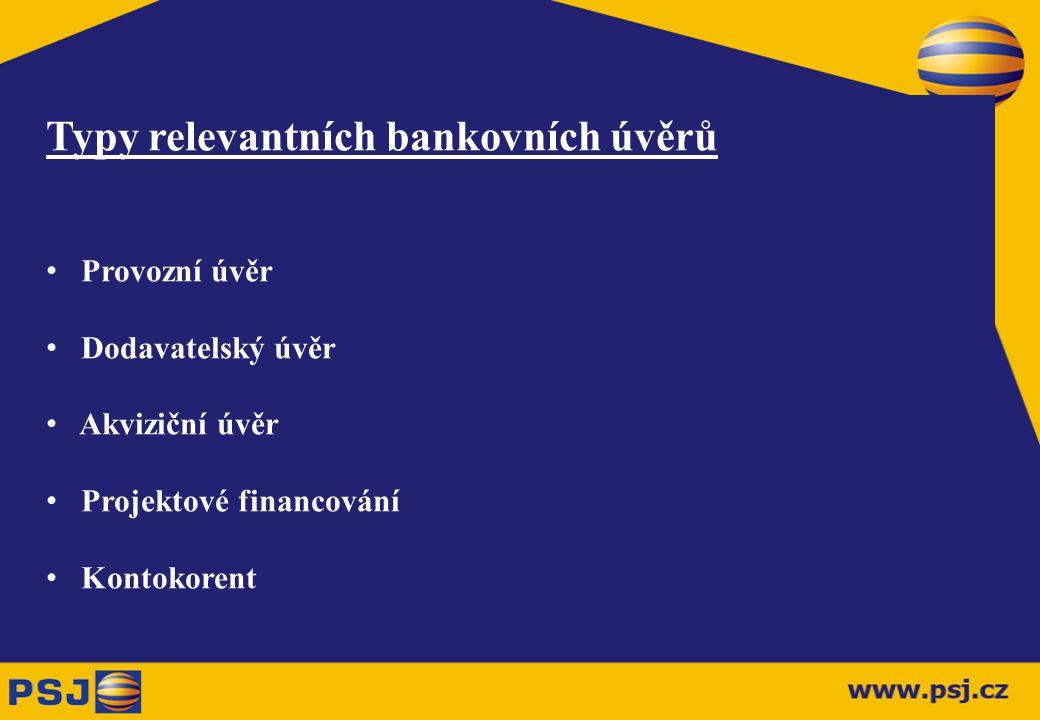 Typy relevantních bankovních úvěrů
