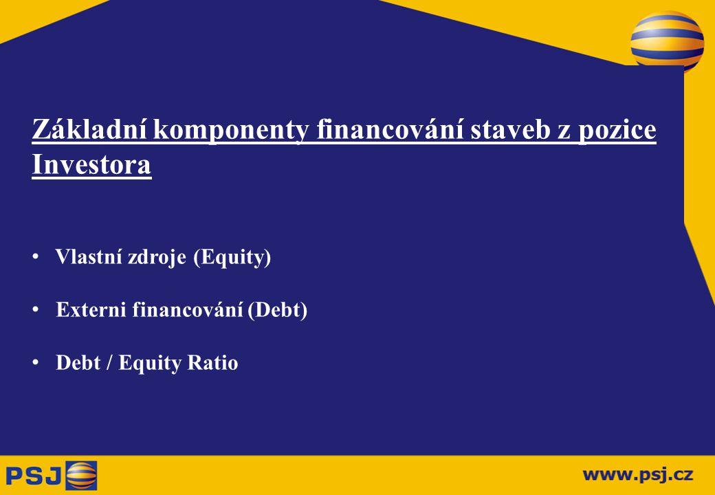 Základní komponenty financování staveb z pozice Investora