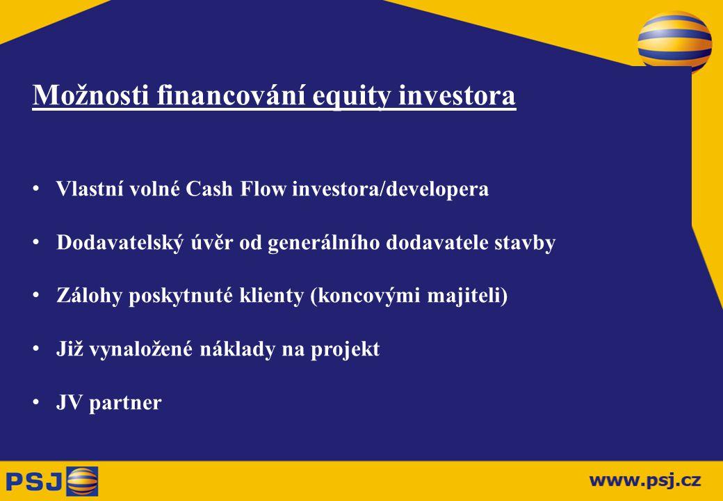Možnosti financování equity investora