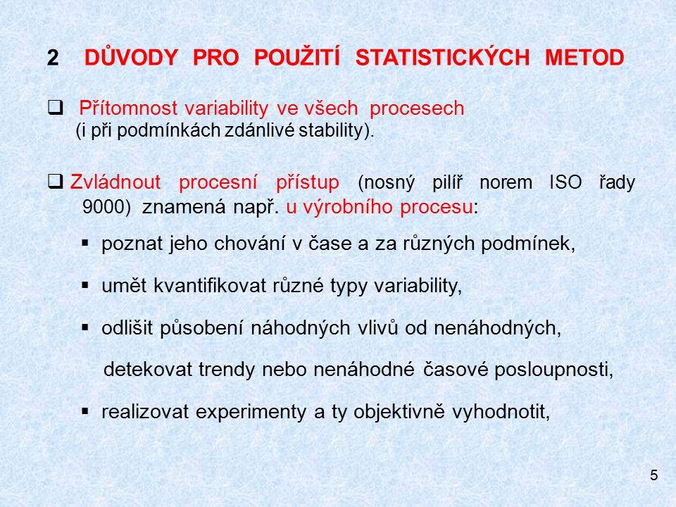 2 DŮVODY PRO POUŽITÍ STATISTICKÝCH METOD