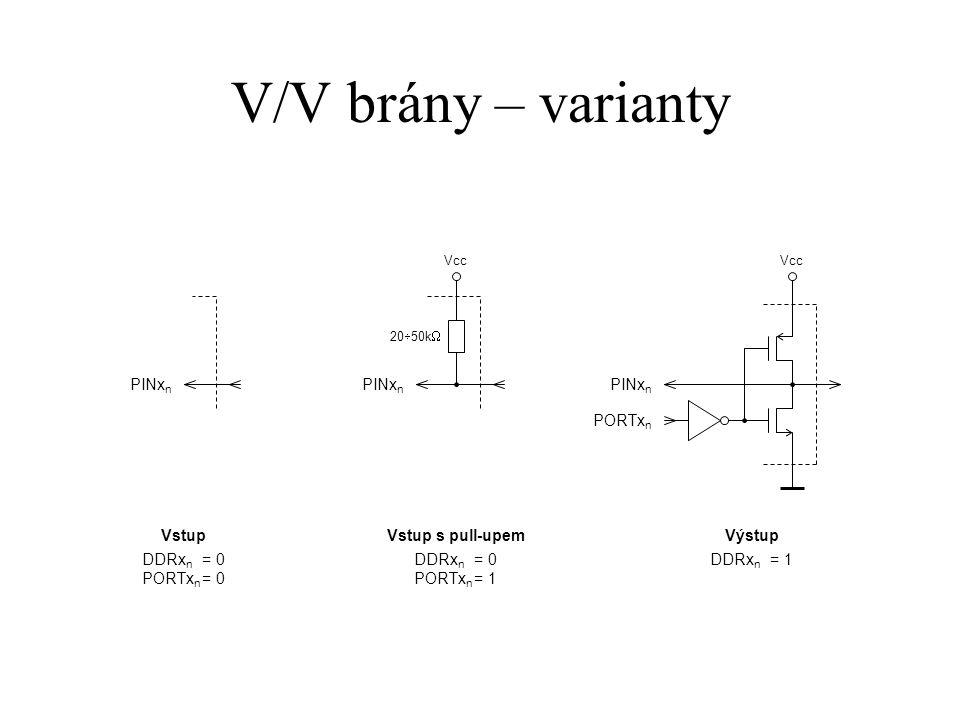 V/V brány – varianty PINxn PINxn PINxn PORTxn Vstup