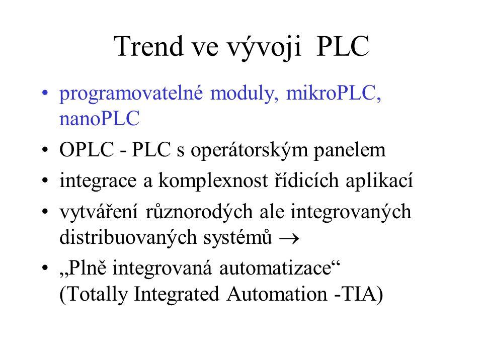 Trend ve vývoji PLC programovatelné moduly, mikroPLC, nanoPLC