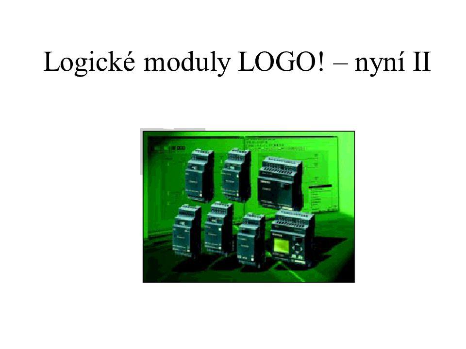 Logické moduly LOGO! – nyní II
