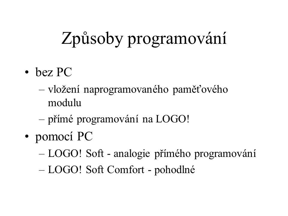Způsoby programování bez PC pomocí PC