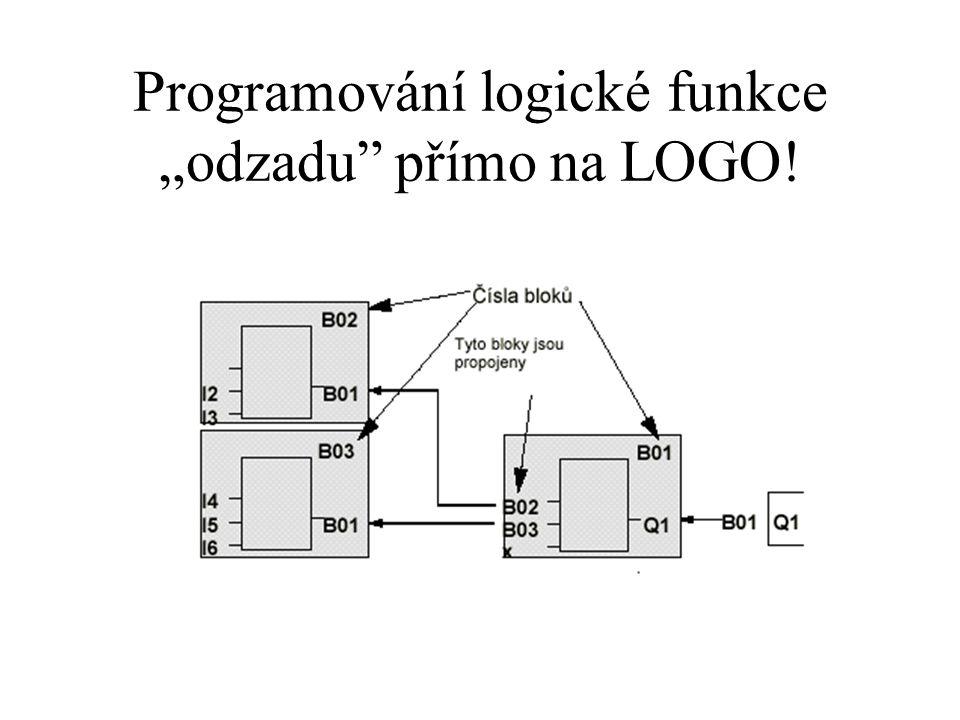 """Programování logické funkce """"odzadu přímo na LOGO!"""