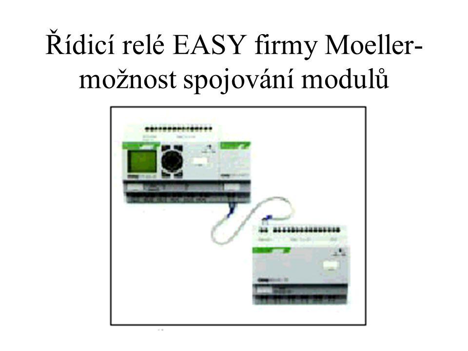 Řídicí relé EASY firmy Moeller-možnost spojování modulů