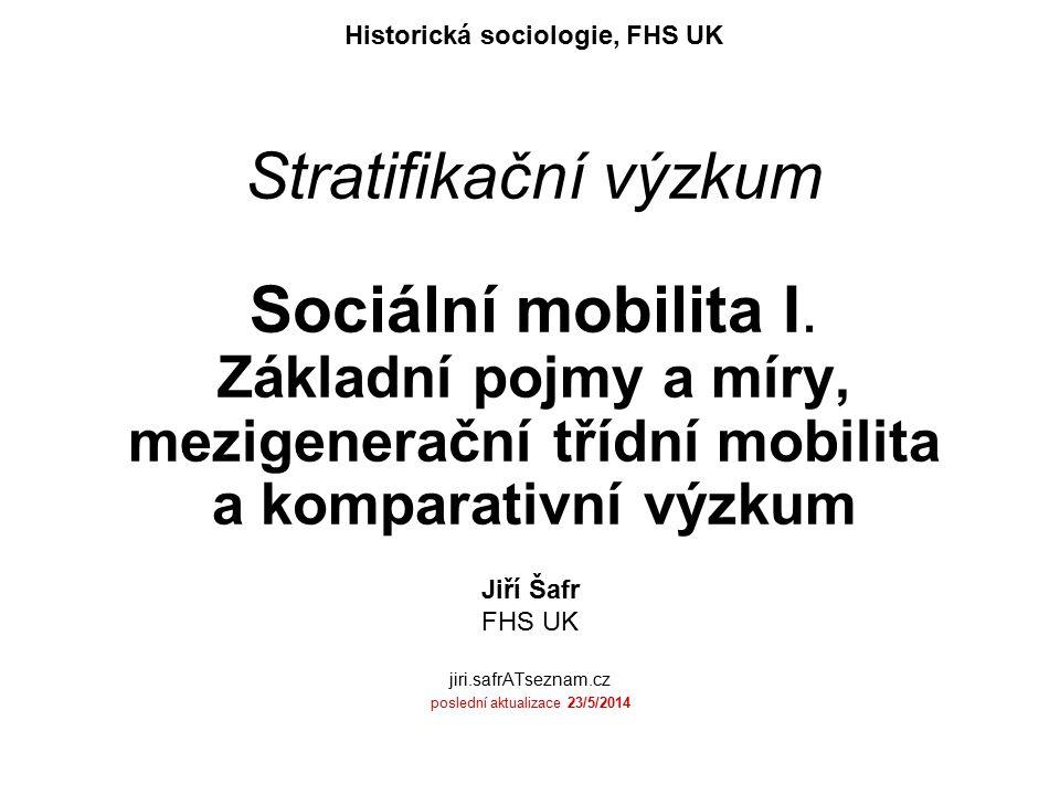 Jiří Šafr FHS UK jiri.safrATseznam.cz poslední aktualizace 23/5/2014