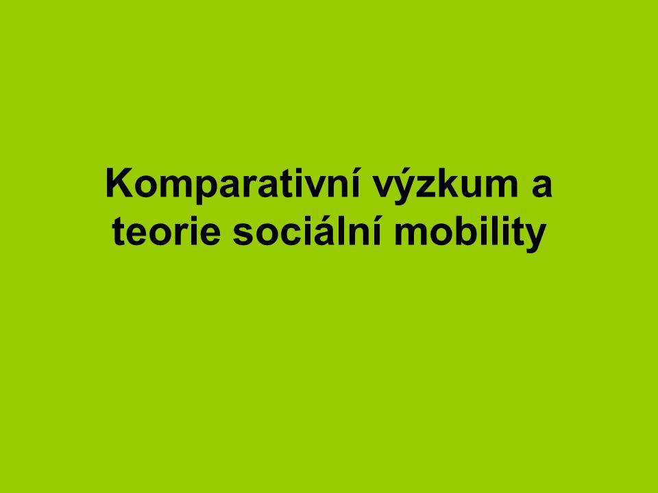 Komparativní výzkum a teorie sociální mobility