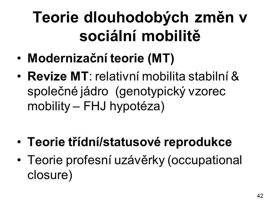 Teorie dlouhodobých změn v sociální mobilitě