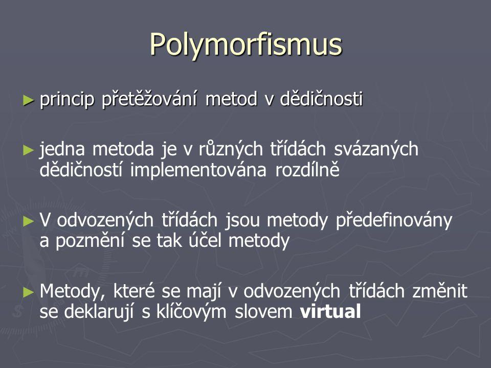 Polymorfismus princip přetěžování metod v dědičnosti