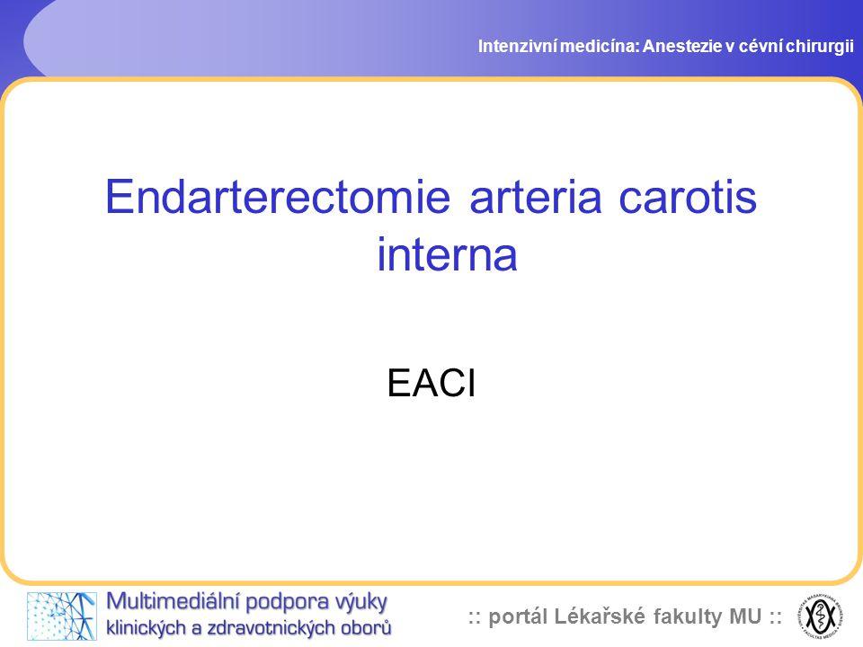 Endarterectomie arteria carotis interna