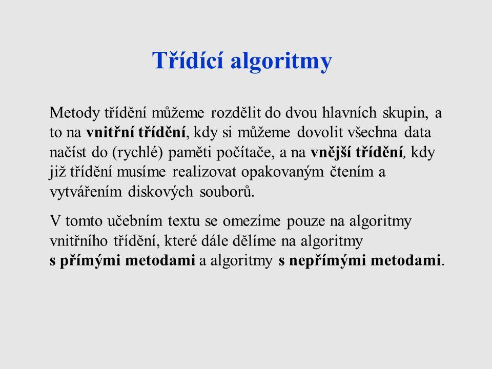 Třídící algoritmy