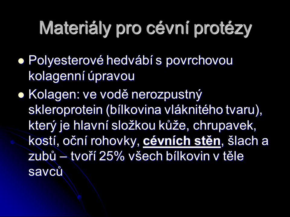 Materiály pro cévní protézy