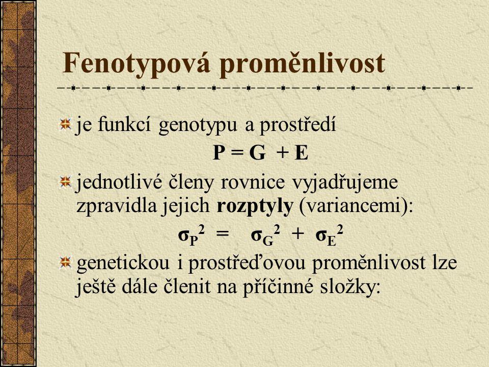 Fenotypová proměnlivost