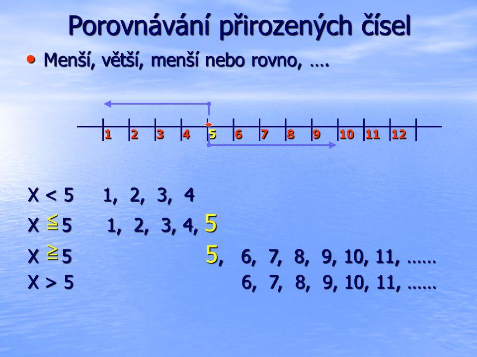 Porovnávání přirozených čísel