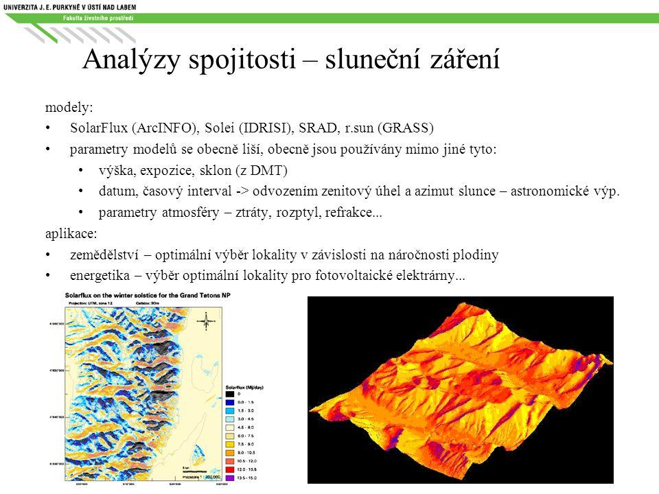 Analýzy spojitosti – sluneční záření