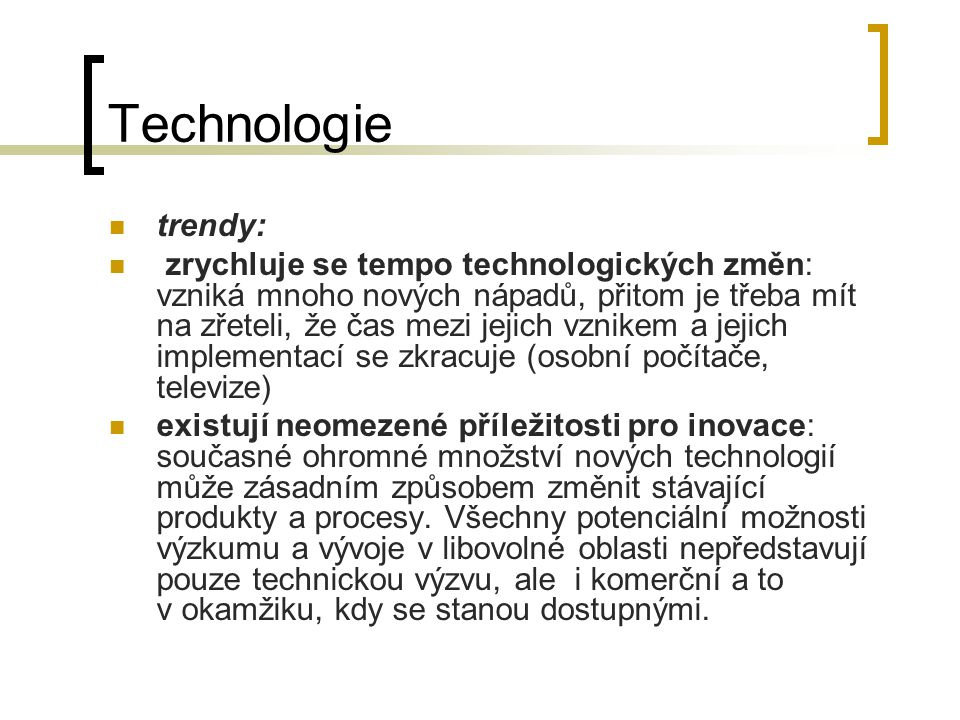 Technologie trendy: