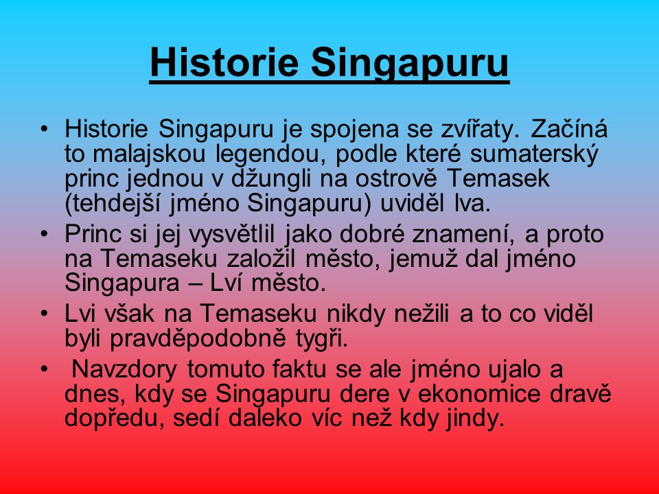 Historie Singapuru