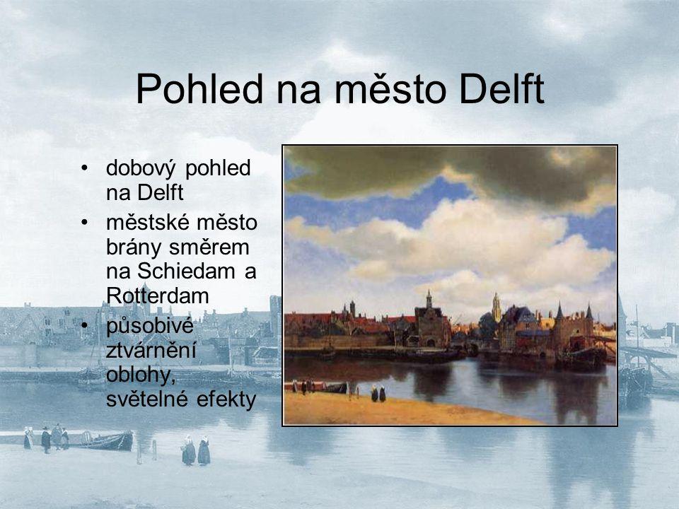 Pohled na město Delft dobový pohled na Delft
