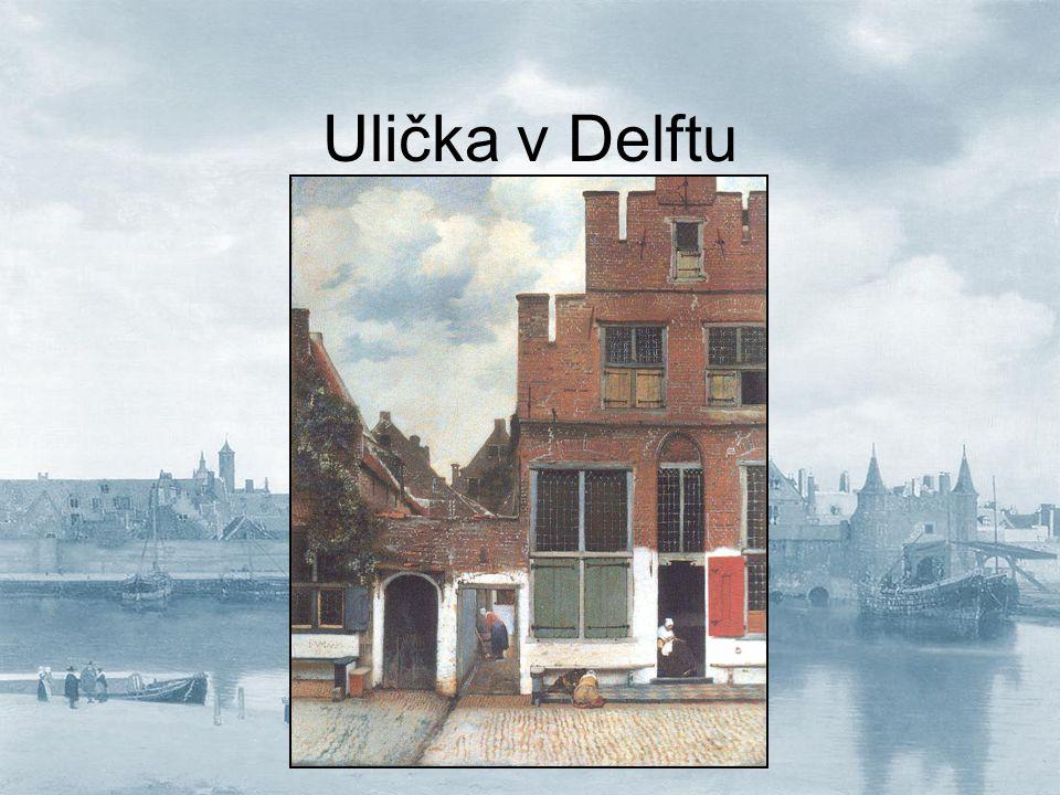 Ulička v Delftu