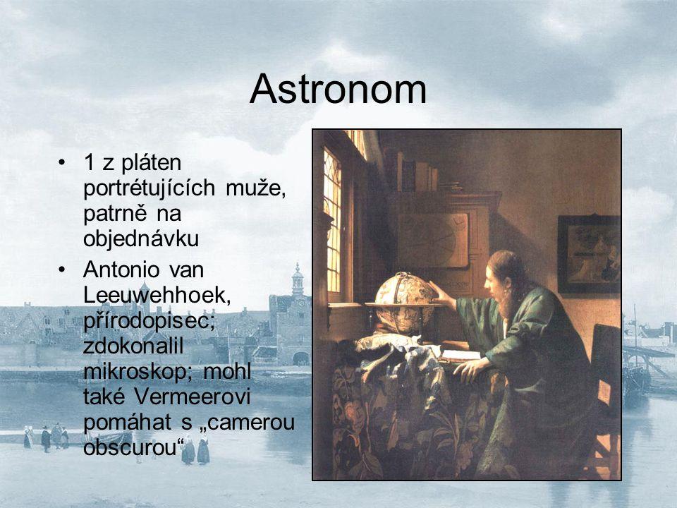 Astronom 1 z pláten portrétujících muže, patrně na objednávku