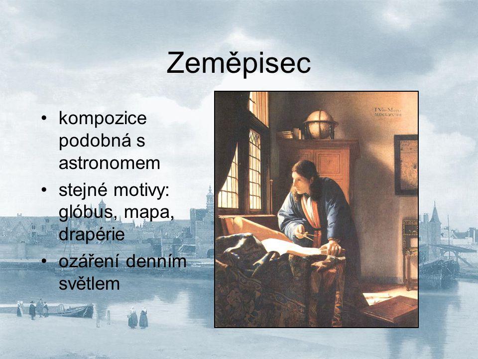 Zeměpisec kompozice podobná s astronomem