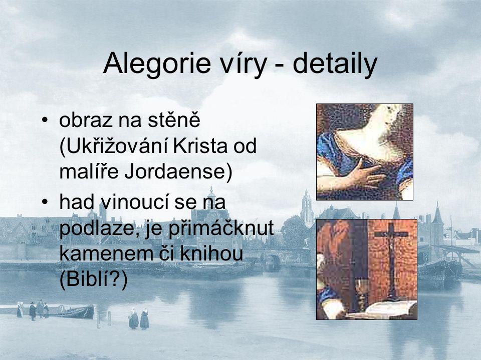 Alegorie víry - detaily
