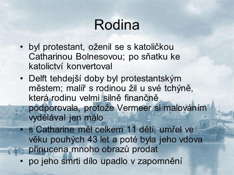 Rodina byl protestant, oženil se s katoličkou Catharinou Bolnesovou; po sňatku ke katolictví konvertoval.