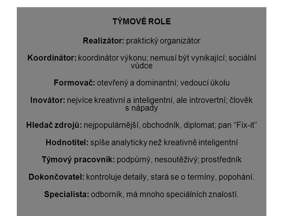 Realizátor: praktický organizátor