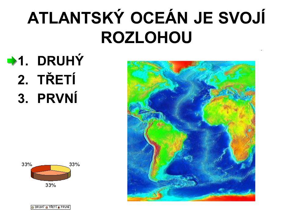 ATLANTSKÝ OCEÁN JE SVOJÍ ROZLOHOU