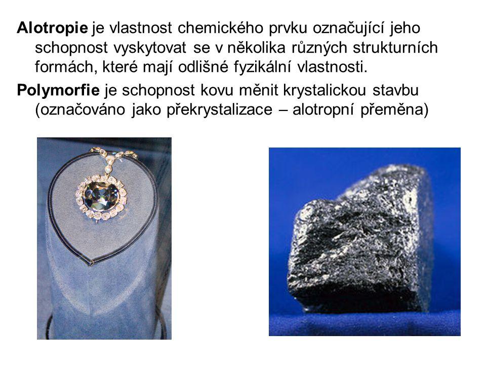 Alotropie je vlastnost chemického prvku označující jeho schopnost vyskytovat se v několika různých strukturních formách, které mají odlišné fyzikální vlastnosti.