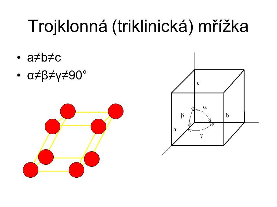 Trojklonná (triklinická) mřížka