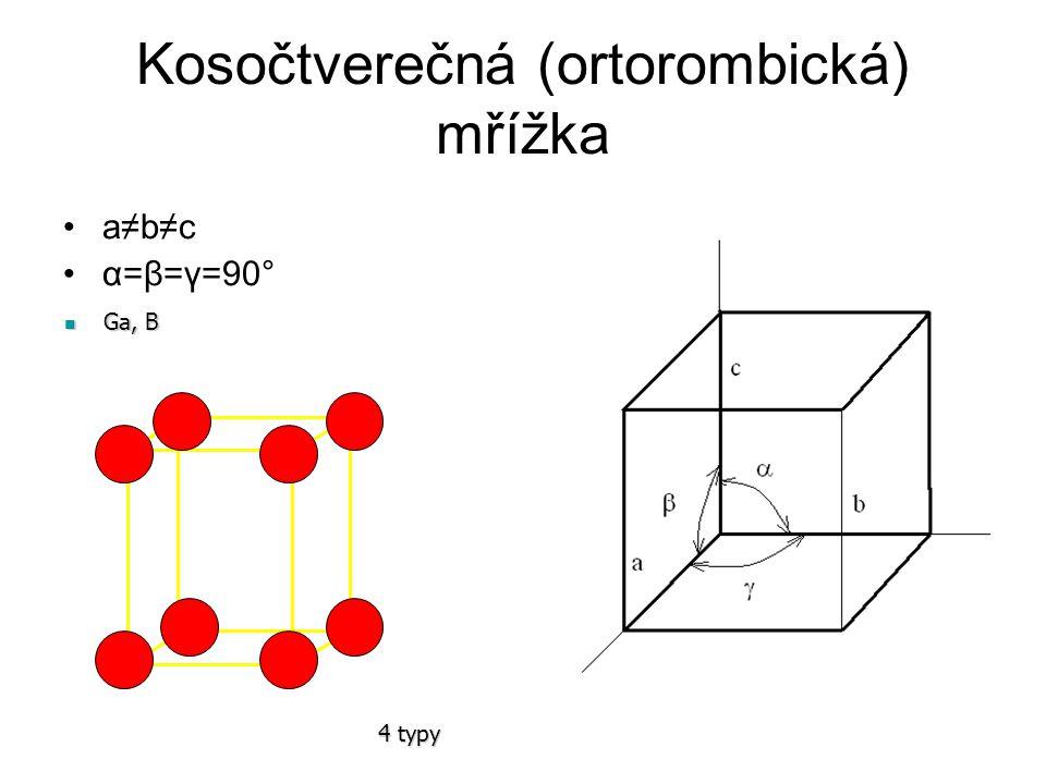 Kosočtverečná (ortorombická) mřížka