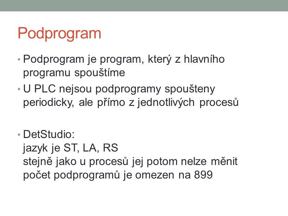 Podprogram Podprogram je program, který z hlavního programu spouštíme