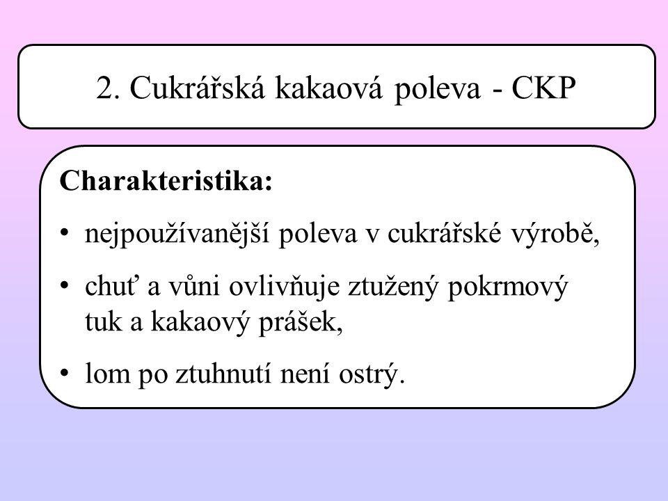 2. Cukrářská kakaová poleva - CKP