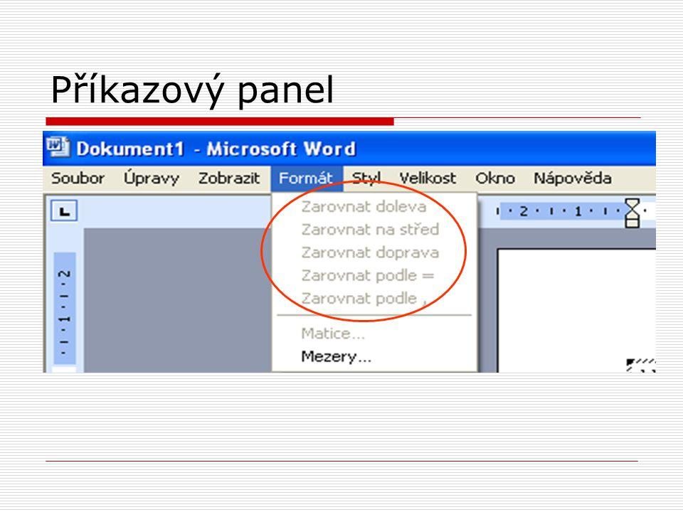 Příkazový panel