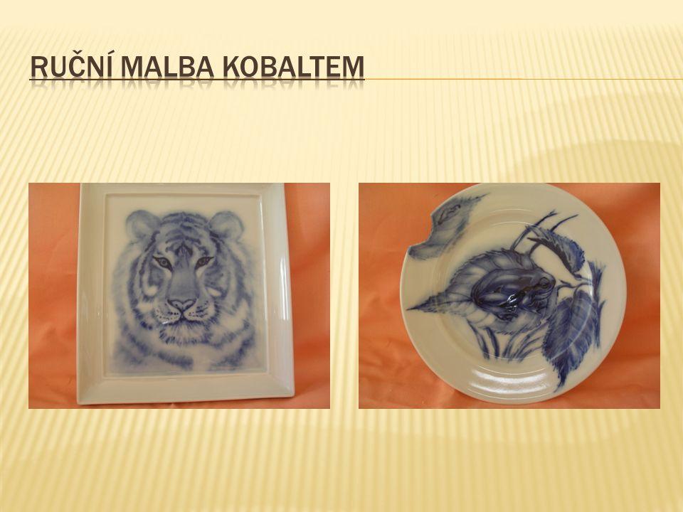 Ruční malba kobaltem