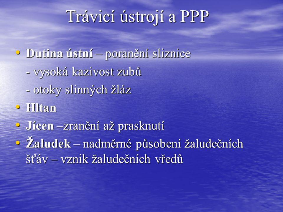 Trávicí ústrojí a PPP Dutina ústní – poranění sliznice