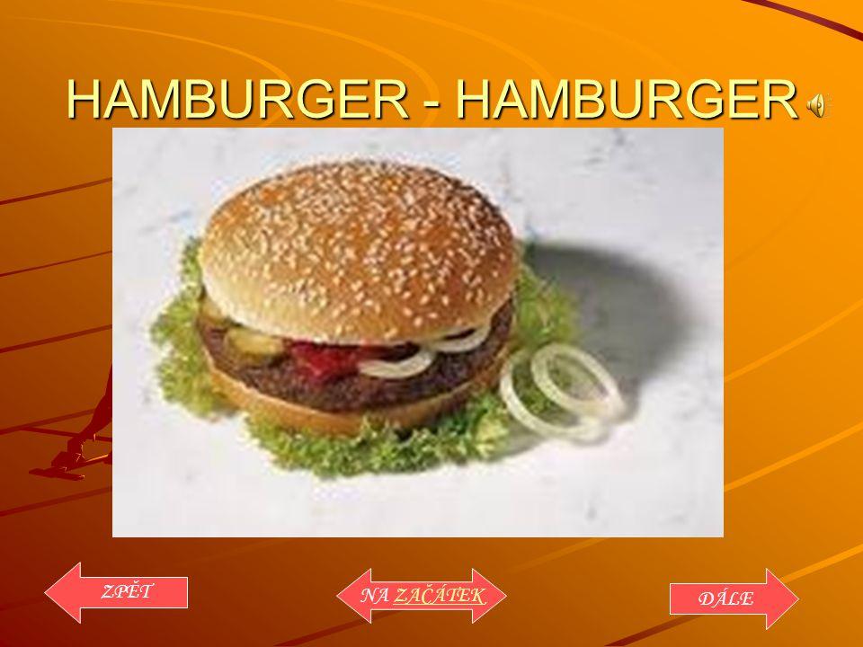 HAMBURGER - HAMBURGER ZPĚT NA ZAČÁTEK DÁLE