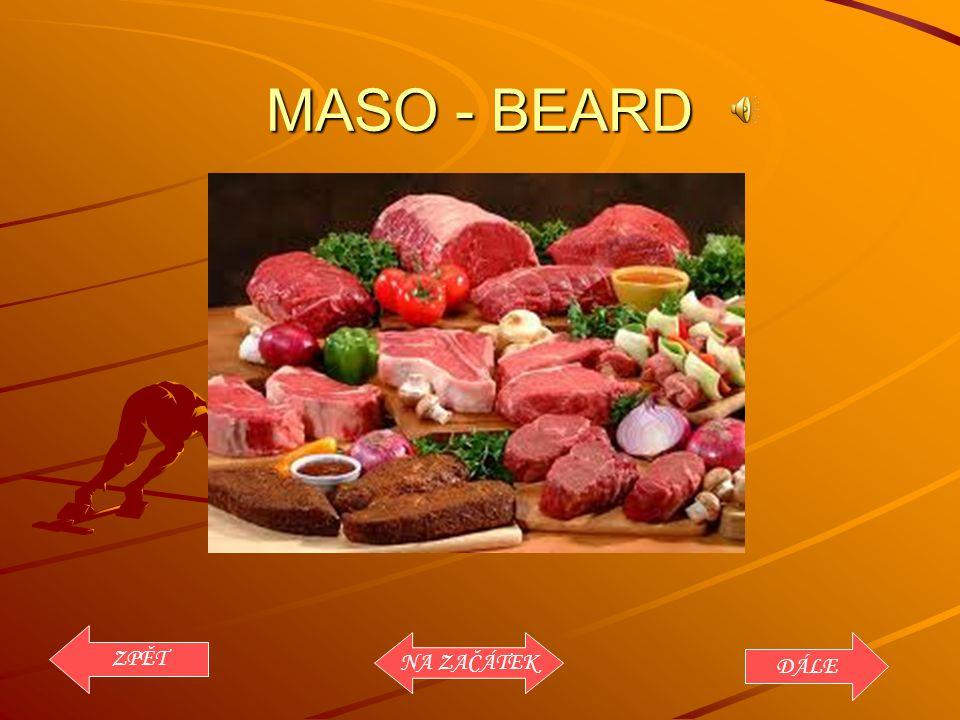 MASO - BEARD ZPĚT NA ZAČÁTEK DÁLE