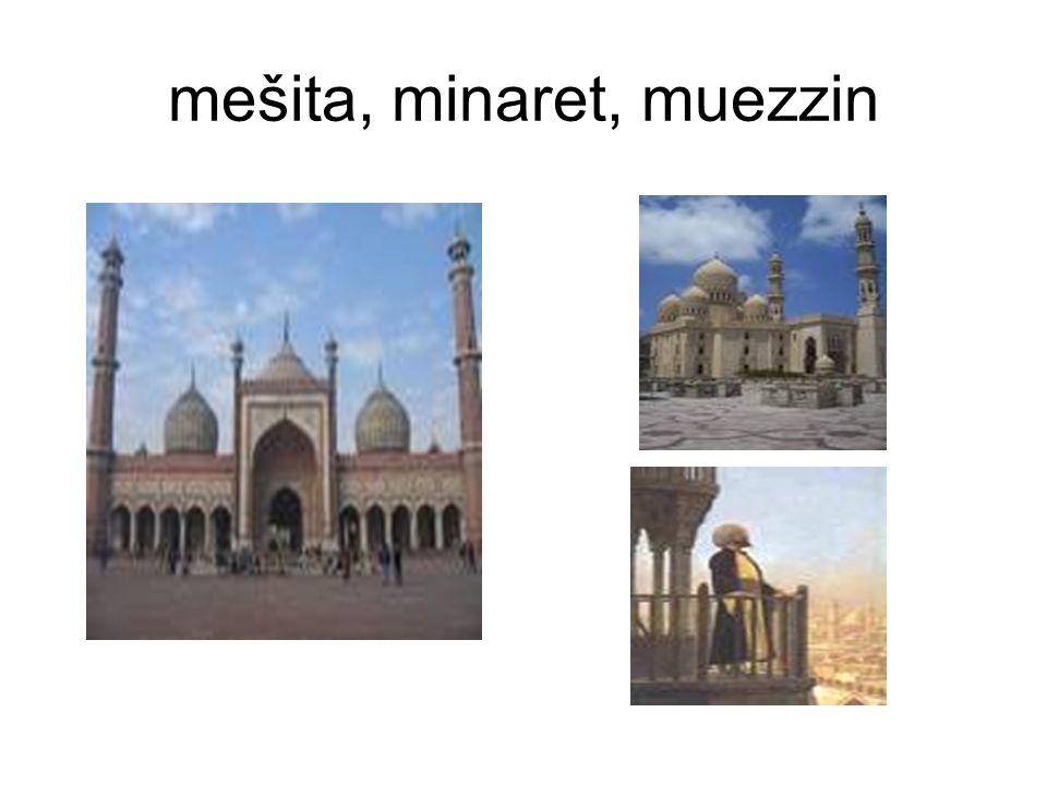 mešita, minaret, muezzin
