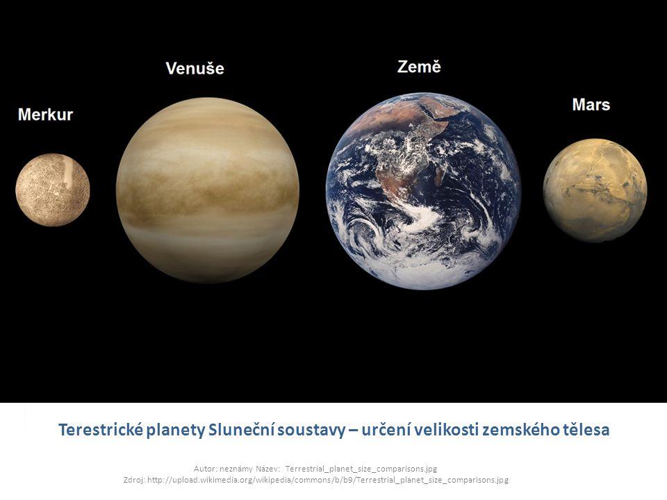 Terestrické planety Sluneční soustavy – určení velikosti zemského tělesa