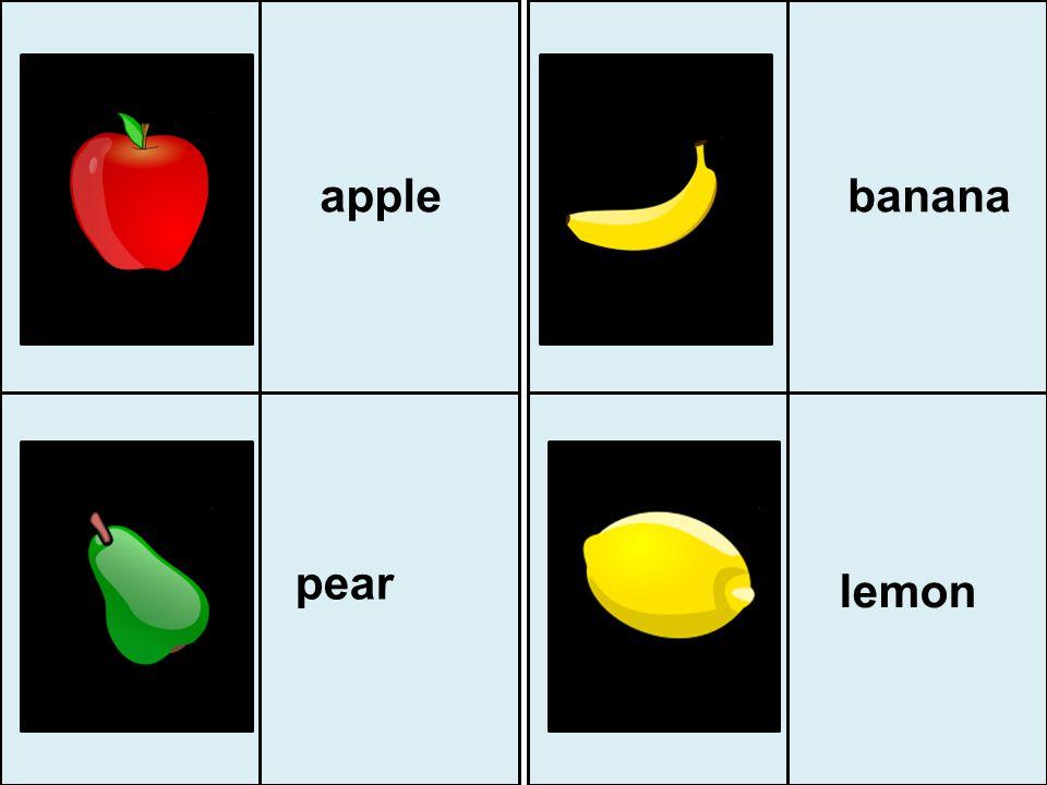 apple banana pear lemon