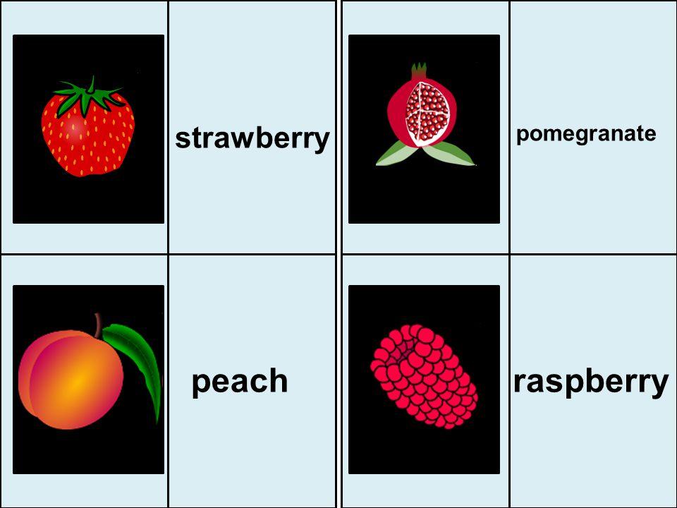 strawberry pomegranate peach raspberry