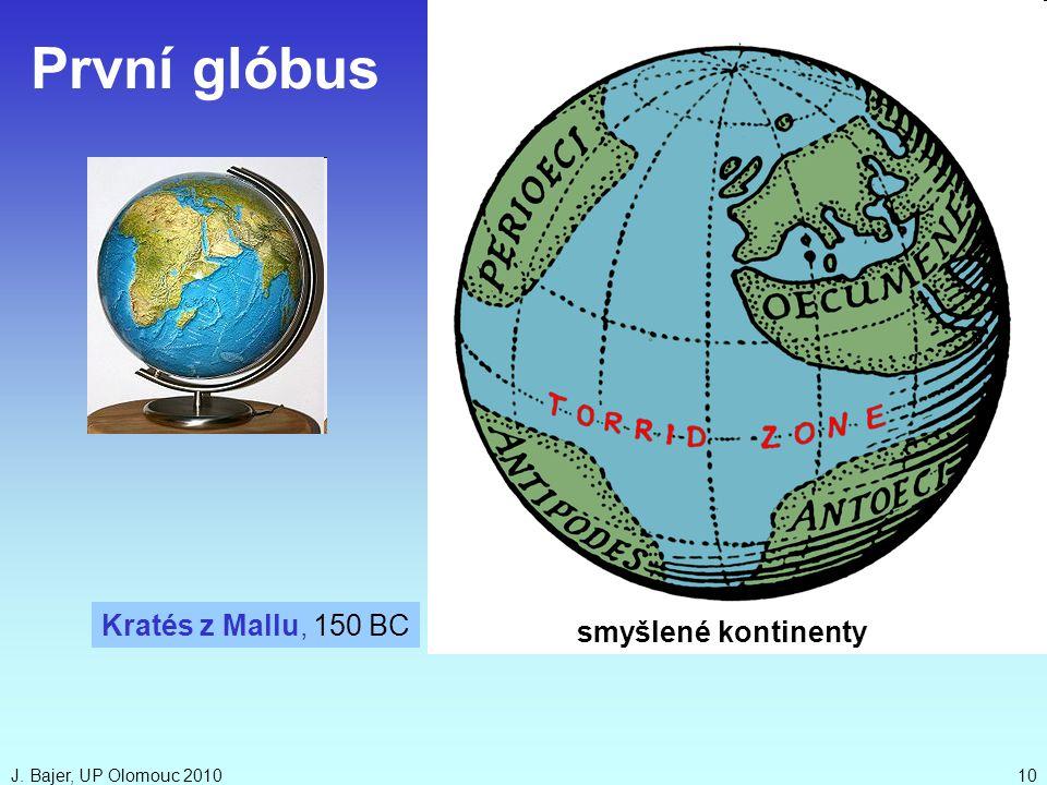 První glóbus Kratés z Mallu, 150 BC smyšlené kontinenty