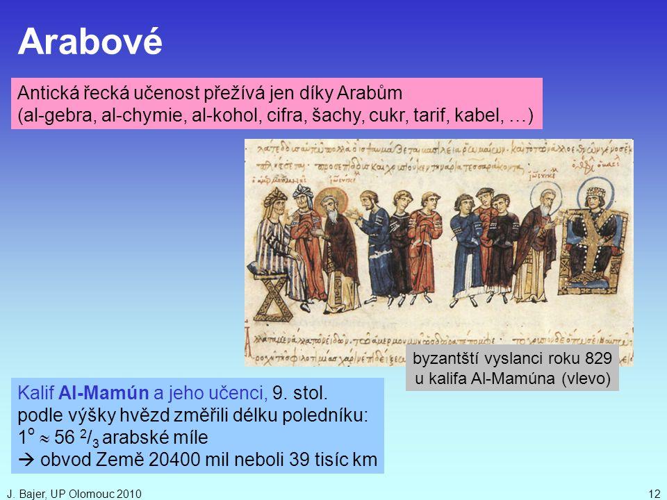 Arabové Antická řecká učenost přežívá jen díky Arabům